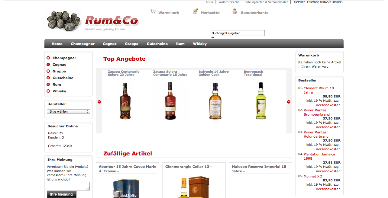 E-Commerce Shop geht online!