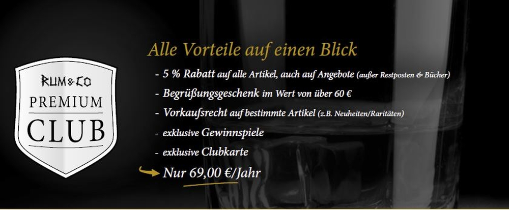 Rum & Co Premium-Club startet