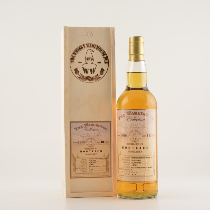 WWH Mortlach 18 Jahre Speyside Whisky 55,4% 0,7l (164,14 € pro 1 l)