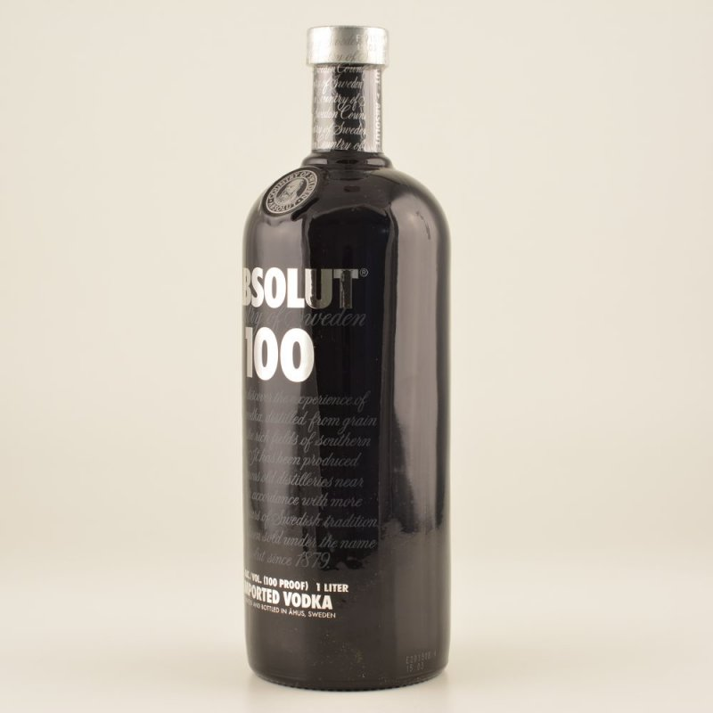 Absolut Vodka 100 Black 50% 1,0l