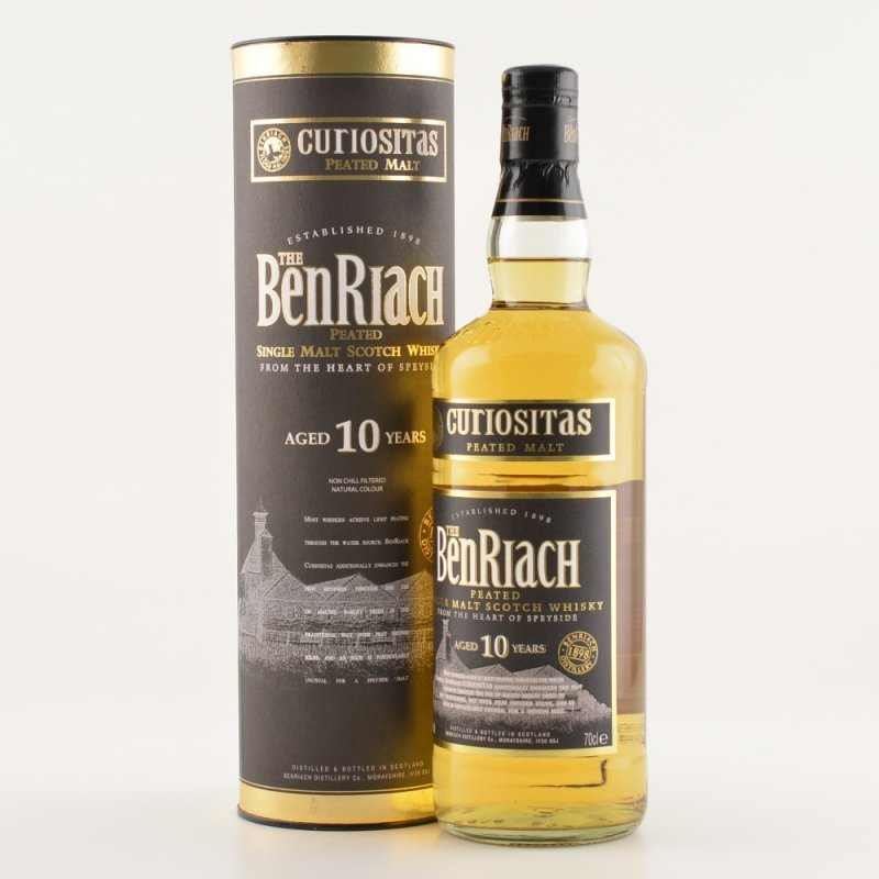 BenRiach 10 Jahre Curiositas Peated Speyside Wh...