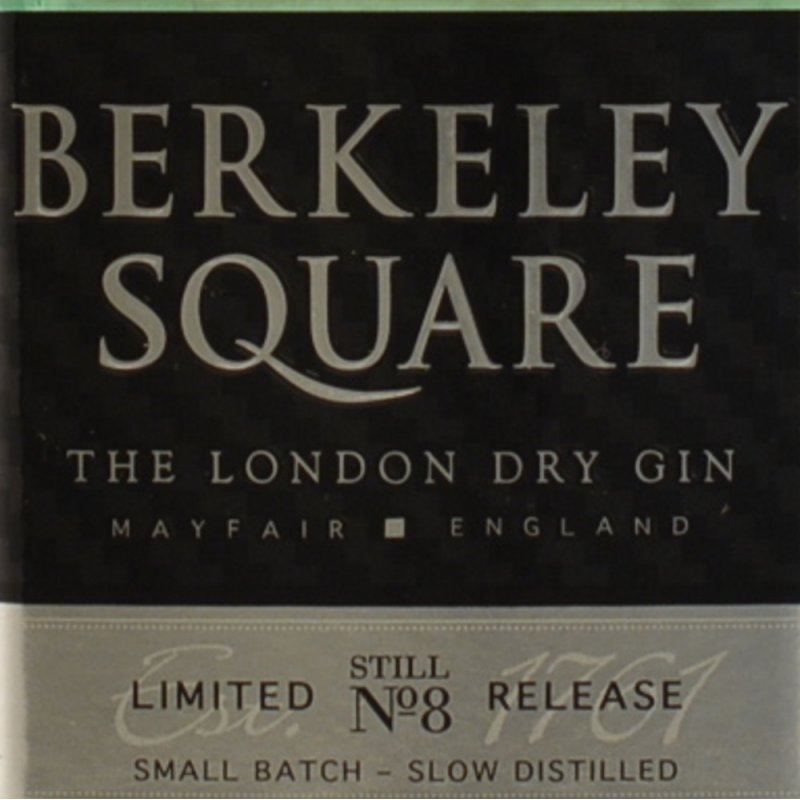 Berkeley Square Ltd. Still No. 8 Gin 46% 0,7l