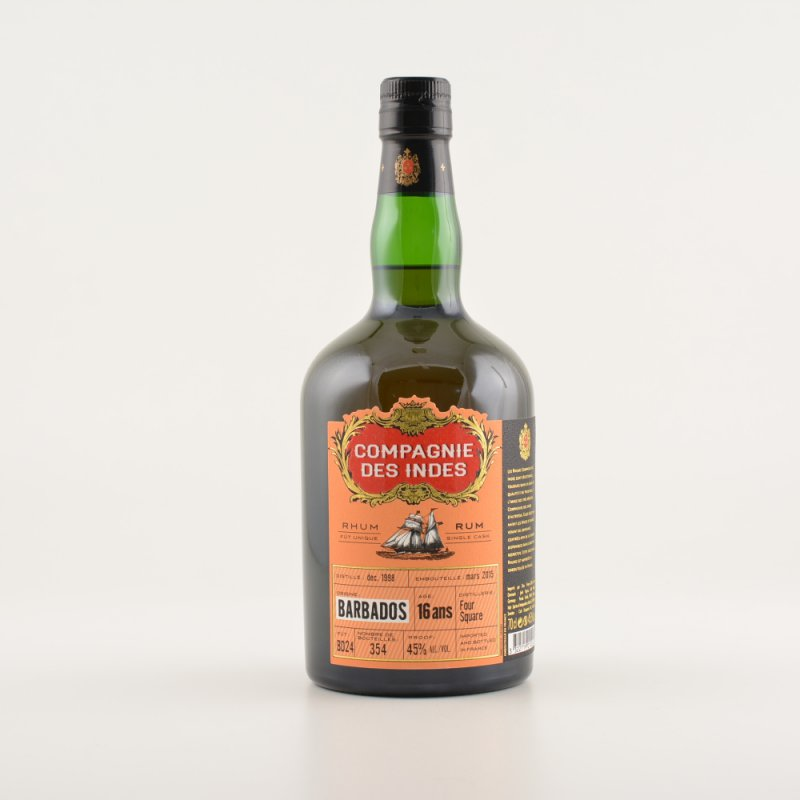 Compagnie des Indes Barbados 16 Single Cask Jahre Rum 45% 0,7l (121,29 € pro 1 l)