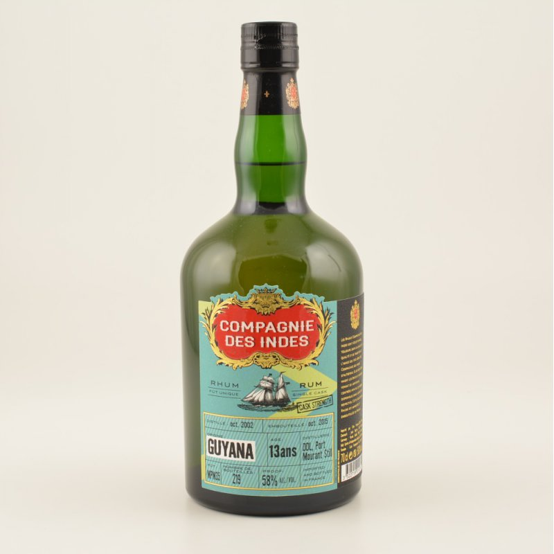 Compagnie des Indes Guyana Single Cask 13 Jahre Rum Full Proof 58% 0,7l