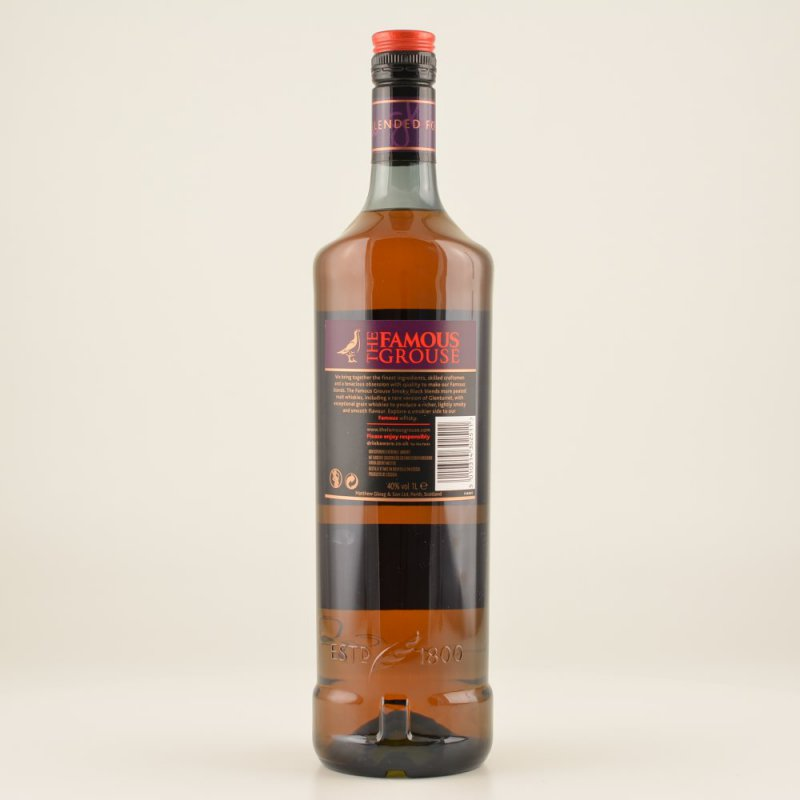 Famous Grouse Smoky Black Whisky (peaty) 40% 1,0l