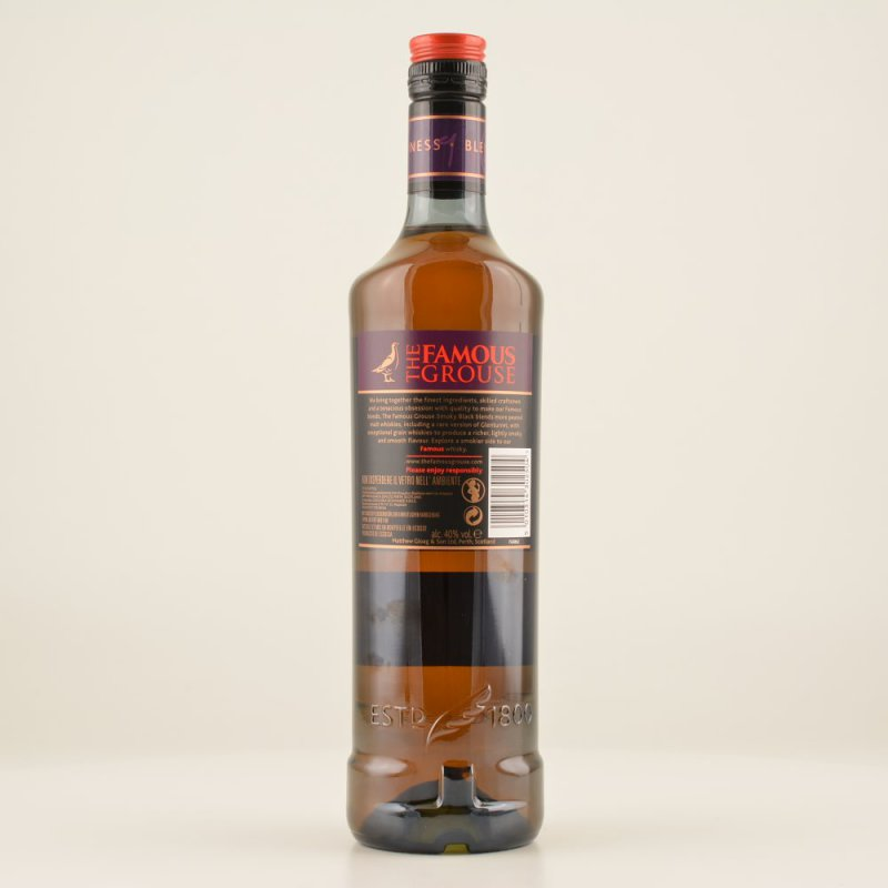 Famous Grouse Smoky Black Whisky (peaty) 40% 0,7l