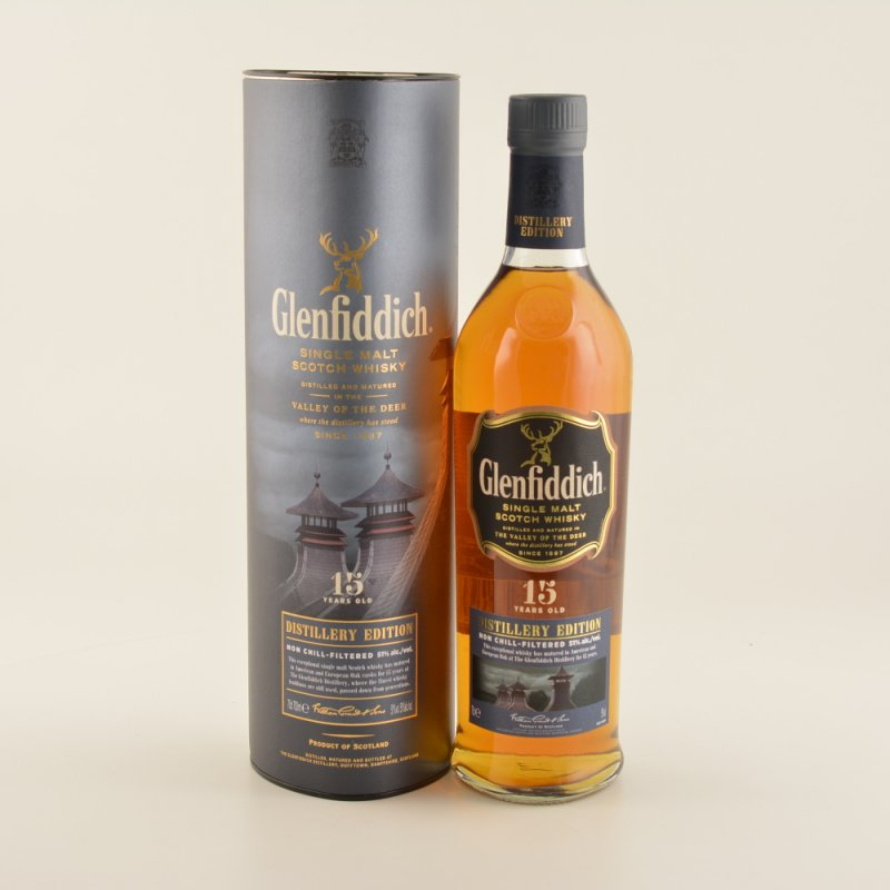 15 Jahre Distillers Edition Speyside Whisky 51% 0,7l (71,29 € pro 1 l)