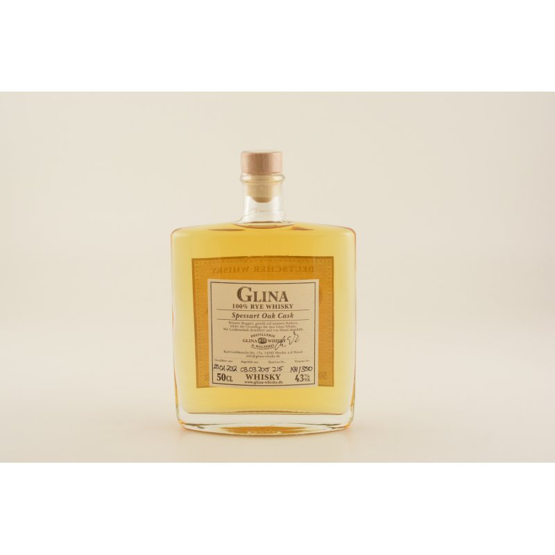 Glina Spessart Single Grain German Whisky 43% 0,5l