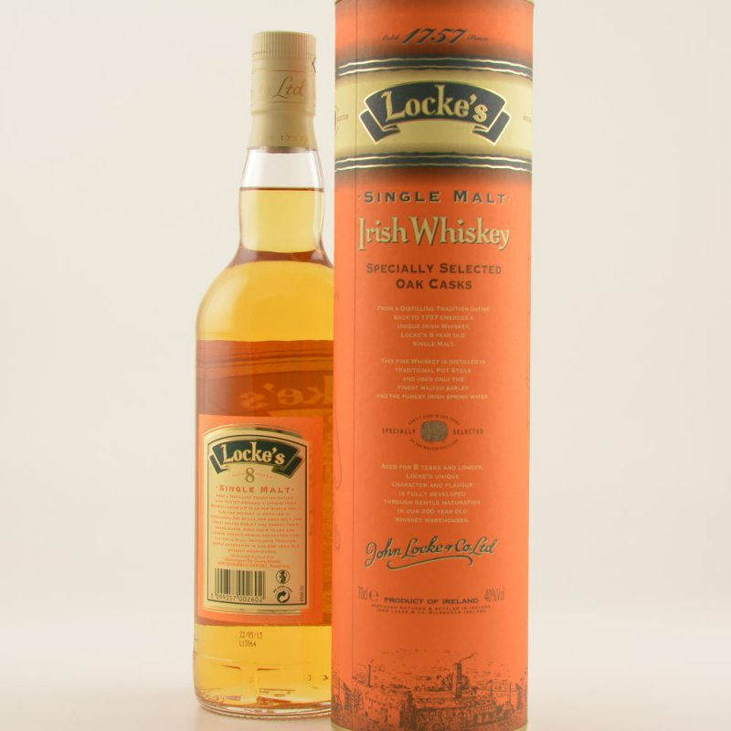 Lockes 8 Jahre Irish Single Malt Whiskey 40% 0,7l