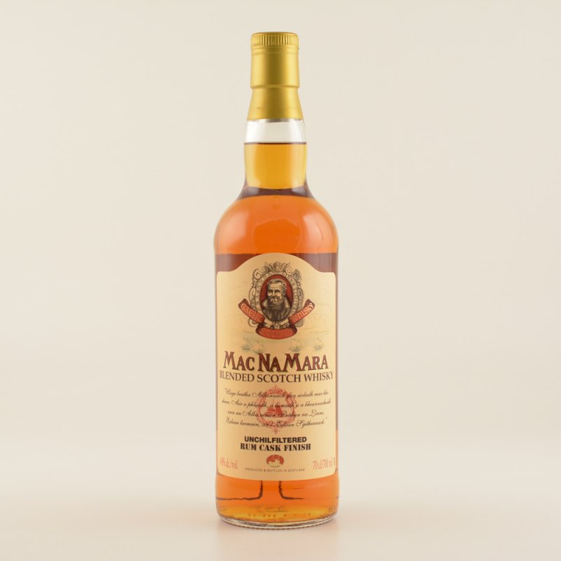 MacNamara Rum Finish Blended Whisky 40% 0,7l (3...