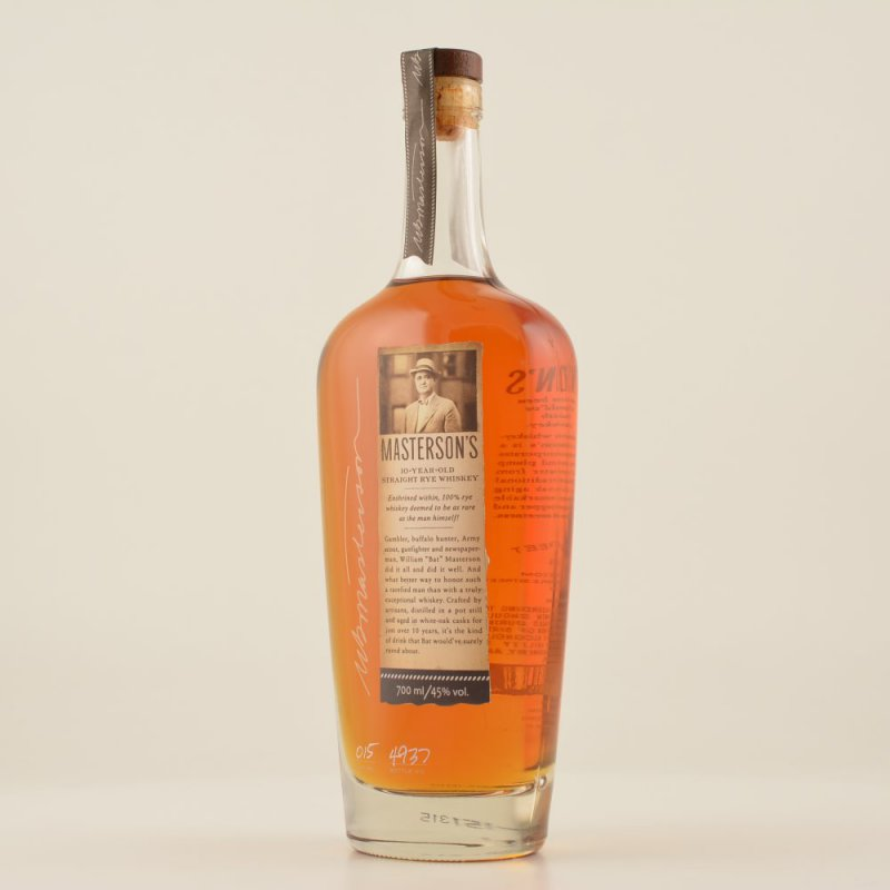 Masterson´s 10 Year Old Rye Whiskey 45% 0,7l (8...