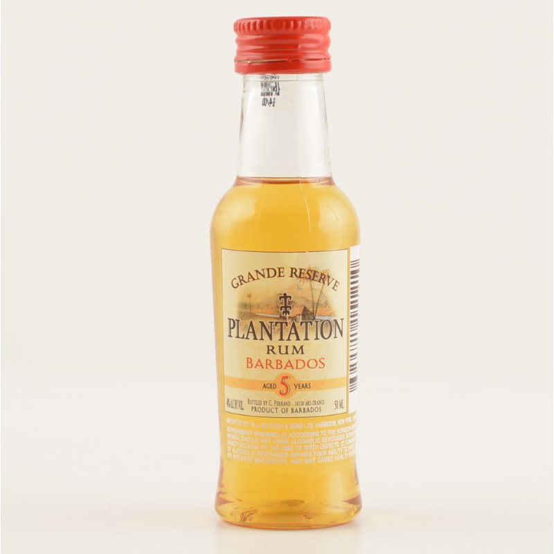 Plantation Rum Barbados 5 Jahre Grand Cru MINI PET 40% 0,05l (70,00 € pro 1 l)