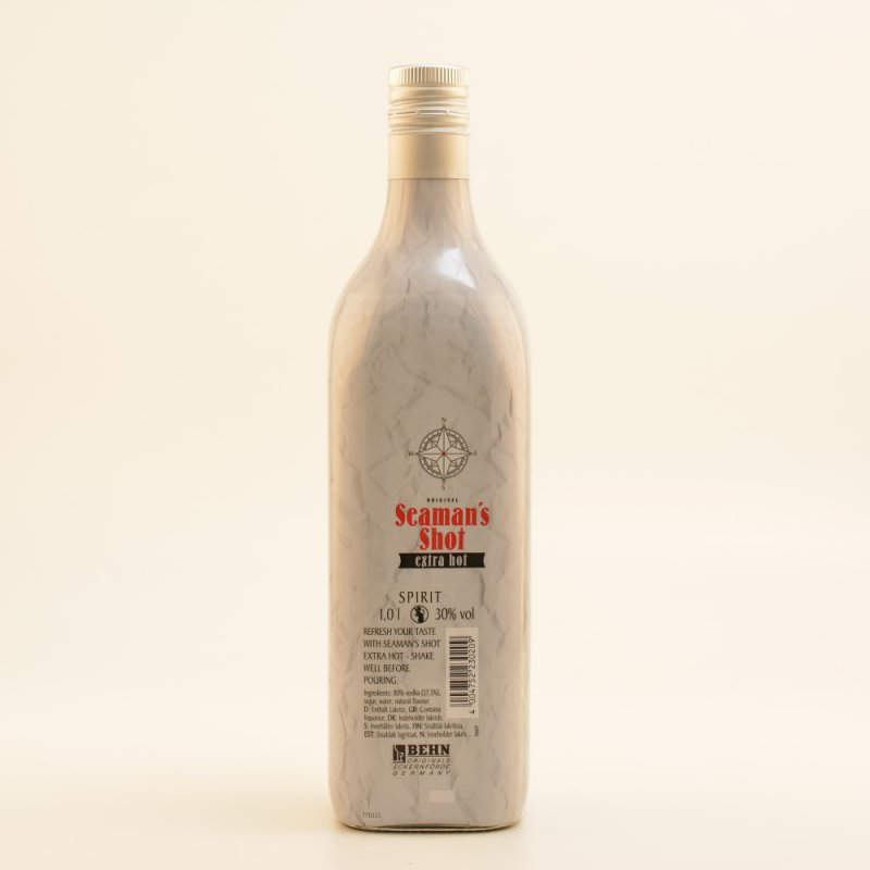 Seamans Shot Vodka - extra Hot 30% 1,0l