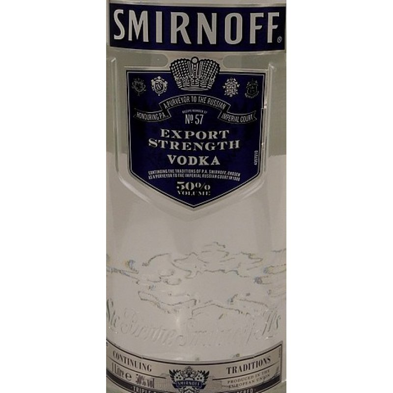 Smirnoff Blue Label Vodka 50% 1,0l