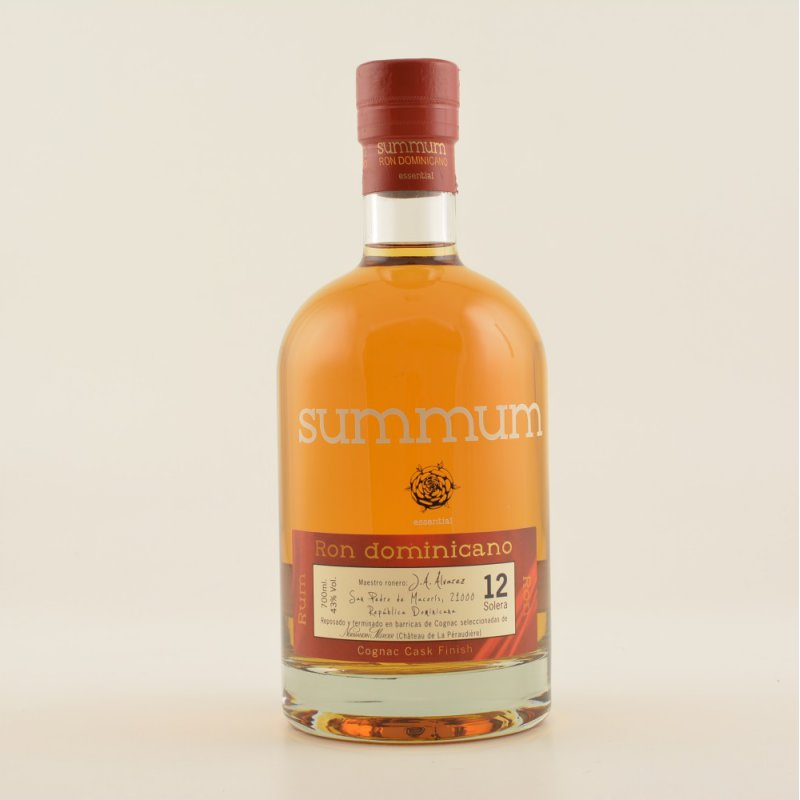 Summum 12 Solera Ron Dominicano Cognac Cask Finish 43% 0,7l (61,29 € pro 1 l)