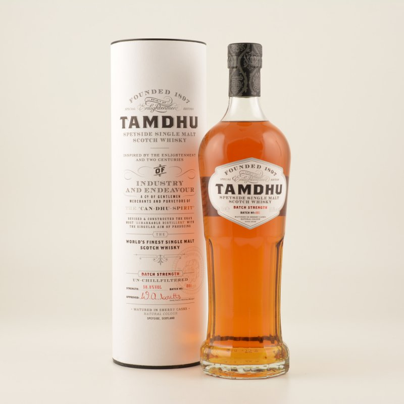 Tamdhu Batch Strength Sherry Cask Finished Speyside Whisky 58,5% 0,7l (88,43 € pro 1 l)