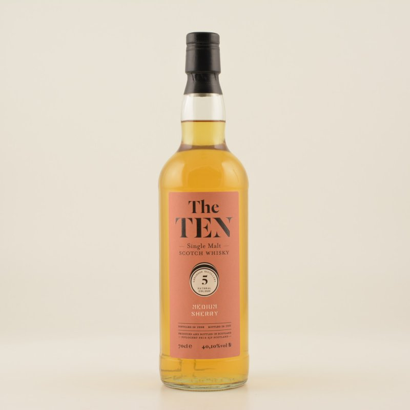 The Ten #5 Medium Sherry Whisky () 40,1% 0,7l (61,29 € pro 1 l)