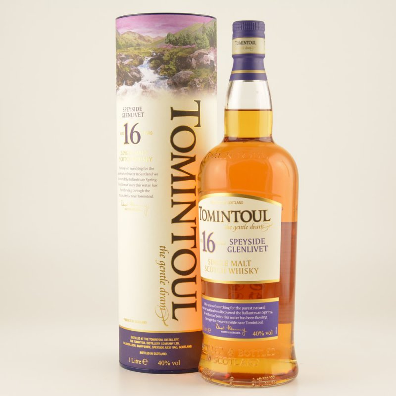 Tomintoul 16 Jahre Speyside Whisky 40% 1,0l (54...
