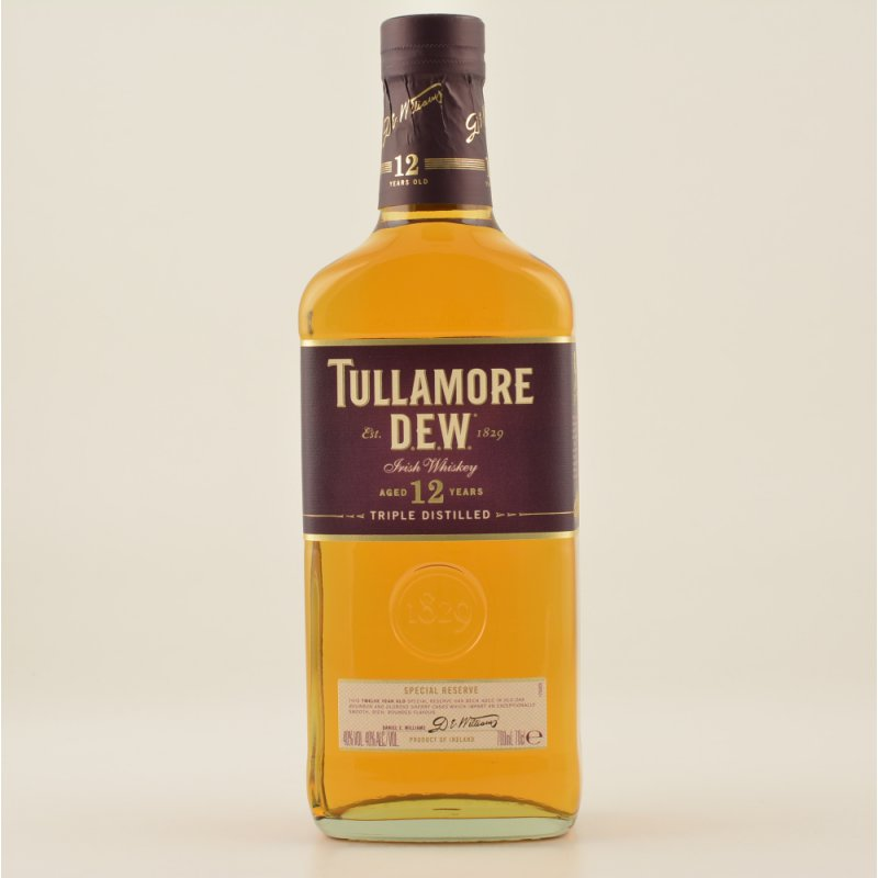 12 Jahre Triple Distilled Irish Whiskey 40% 0,7l (47,86 € pro 1 l)
