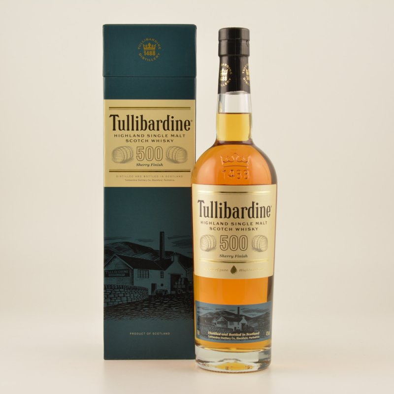 Tullibardine Sherry Finish Highland Single Malt Scotch Whisky 43% 0,7l (46,43 € pro 1 l)