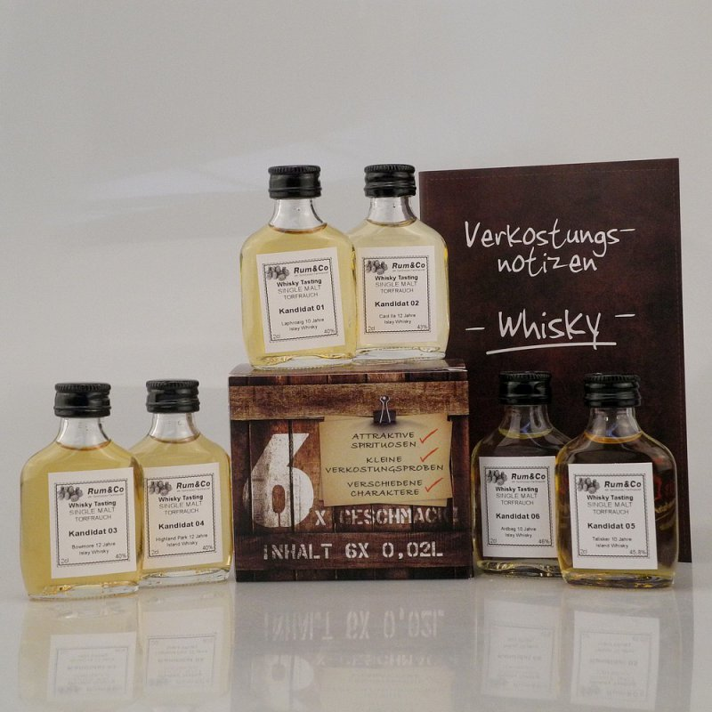 Whisky Tasting Set SINGLE MALT RAUCH & TORF