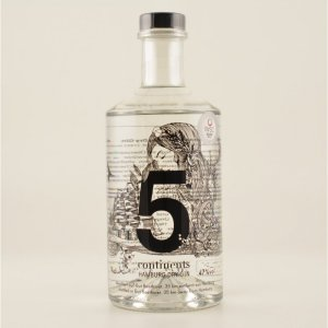 5 continents - Dry Gin 47% 0,7l