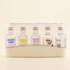 Restposten: Absolut Vodka Five (5 x 0,05l)