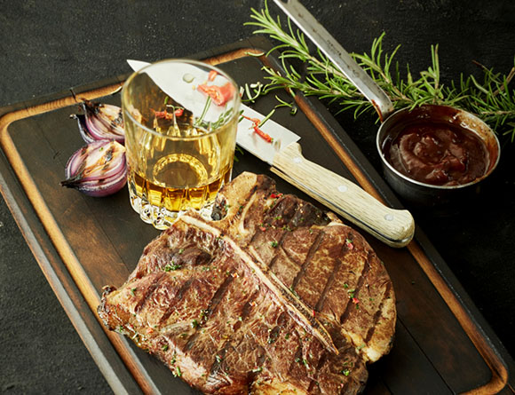 T-Bone Steak mit Whisky