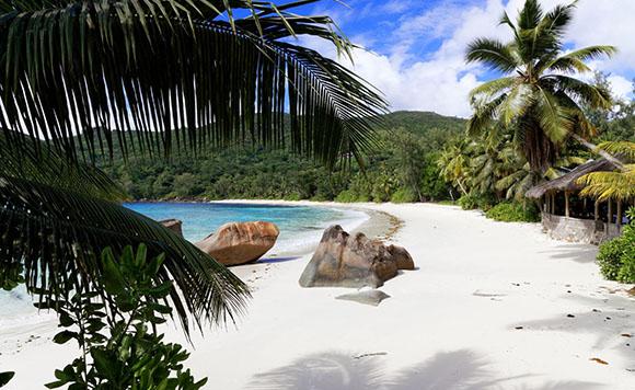 Strand an den Seychellen