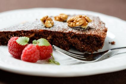 Vegane Schokoladentarte mit Walnssen