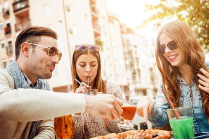 Fast Food und Spirituosen