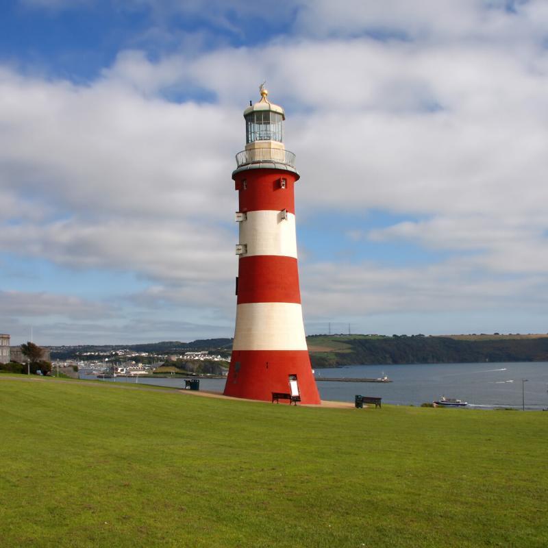 Plymouth England Leuchtturm