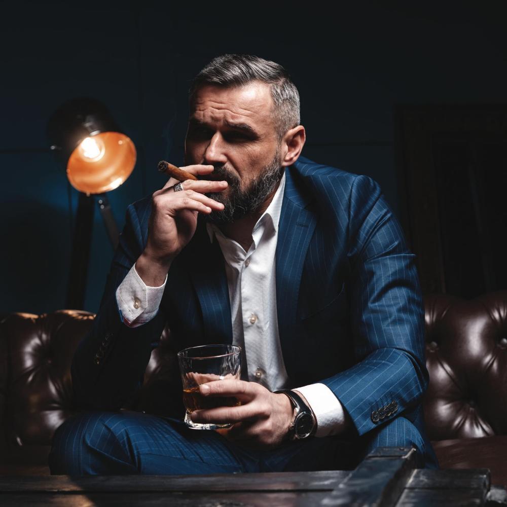 Mann Zigarre Whisky Rum