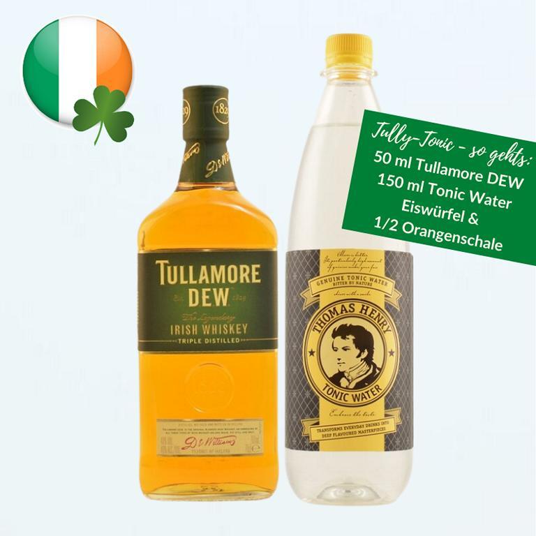 K1024 50 ml Tullamore DEW 150 ml Tonic Water Eis 1 2 Orangenschale