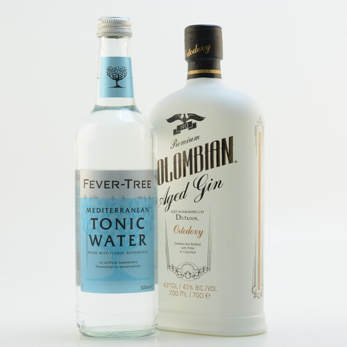 Dictador Colombian Aged White Gin (Ortodoxy) & Fever Tree Mediterranean Tonic Set