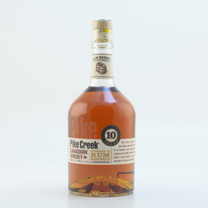 Pike Creek 10 Jahre Canadian Rum finish Whisky 42% 0,7l + 2 Kanada Untersetzer