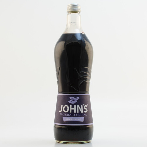 John´s Natural Cordial Cassis (kein Alkohol) 0,7l