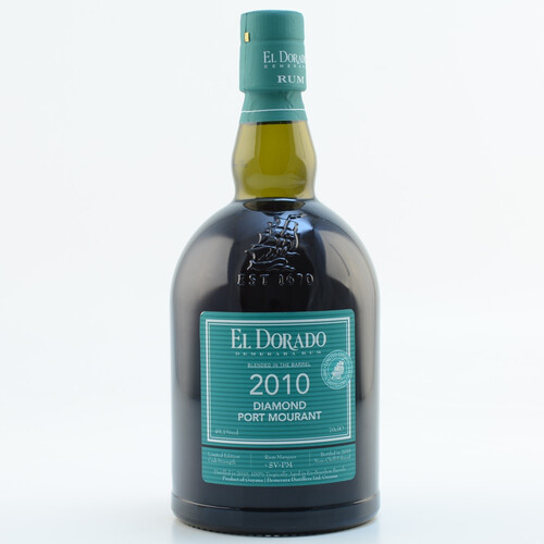 El Dorado Rum Blended in the Barrel 2010/2019 Diamond Port Mourant Limited Edition 49,1% 0,7l