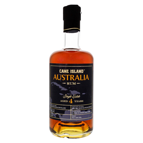 Cane Island Australia Single Estate Rum 4 Jahre 43% 0,7l
