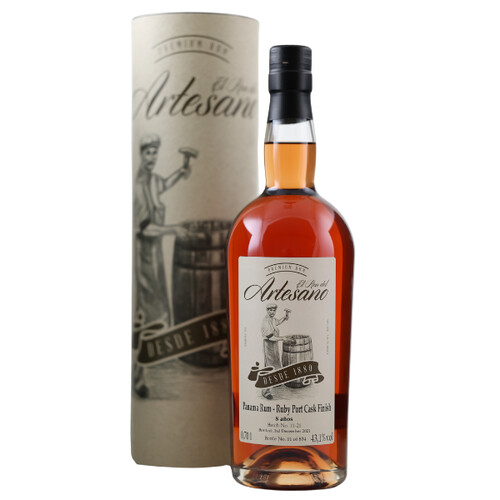 El Ron del Artesano 8 Jahre Ruby Port Cask Finish 40,6% 0,7l