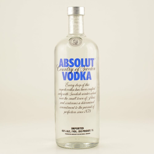Absolut Vodka Blue 40% 1,0l