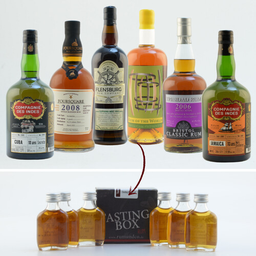 Rum Tasting Set: Kenner Box Nr. 1 6x0,02l