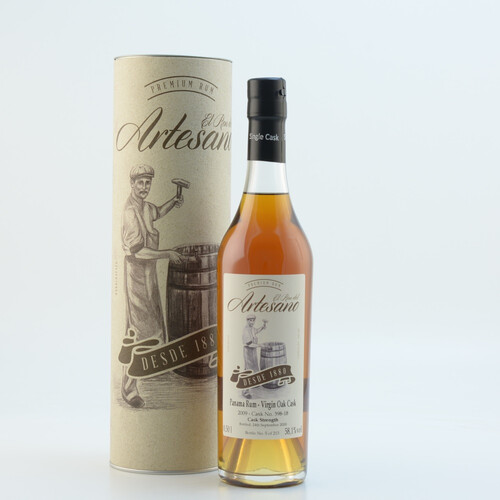 El Ron del Artesano 2009 Virgin Oak Cask 58,1 %0,5l
