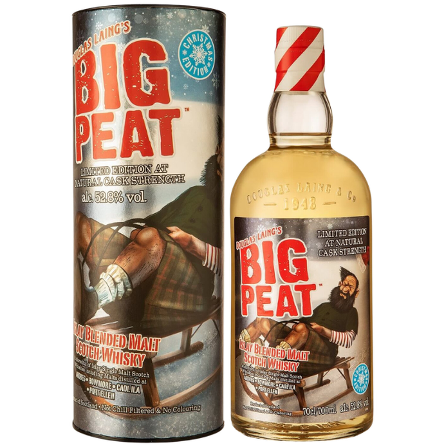 Big Peat Islay Blended Whisky Christmas Edition 2021 52,8% 0,7l (82,71 € pro 1 l)
