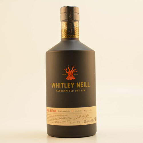Whitley Neill Handcrafted London Dry Gin 43% 0,7l