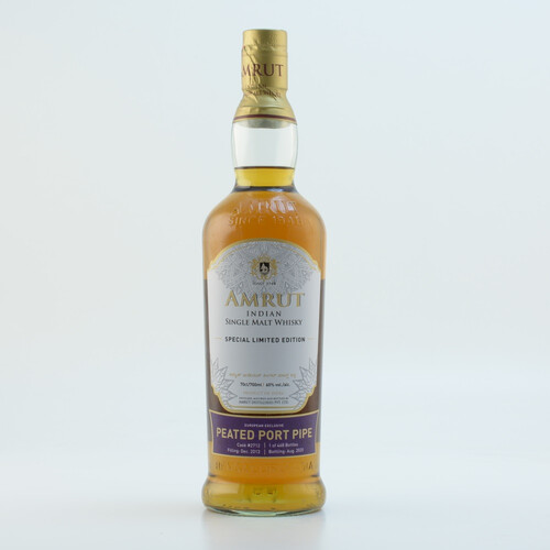 Amrut Peated Port Pipe Indian Single Malt Whisky 60% 0,7l