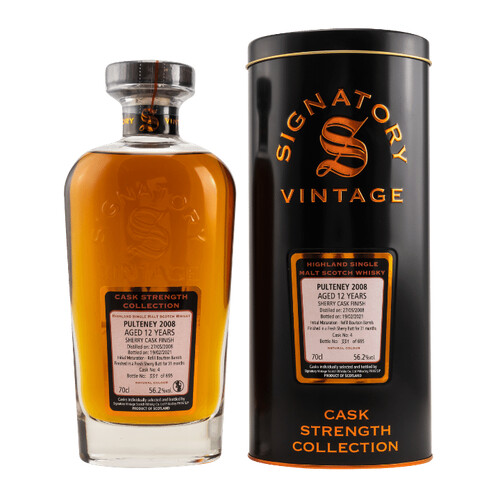 Signatory Pulteney 2008/2021 Cask Strength Whisky 56,2% 0,7l