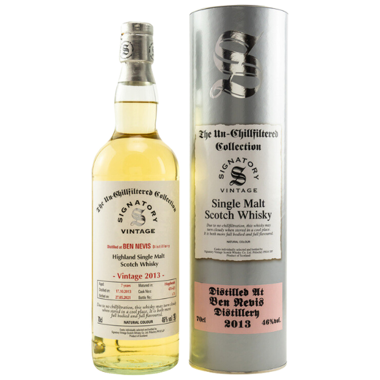 Signatory The Un-Chillfiltered Collection Ben Nevis 2013 Single Malt Whisky 46% 0,7l (64,14 € pro 1 l)