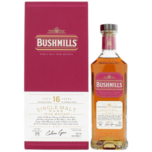 Bushmills 16 Jahre Three Wood Irish Whiskey 40% 0,7l