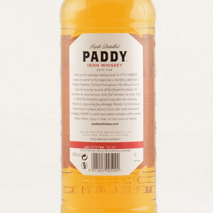 Paddy Old Irish Whiskey 40% 1,0l